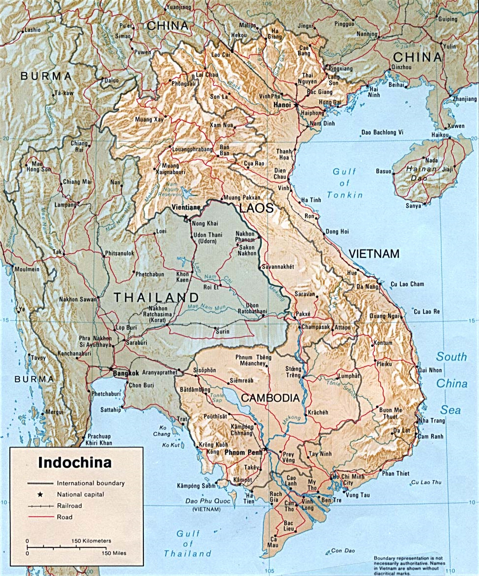 cambodia and laos map Cambodia Laos And Vietnam Indochina And China Today China cambodia and laos map