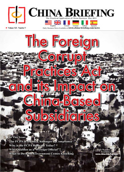 New Issue Of China Briefing The Fcpa And Its Impact On