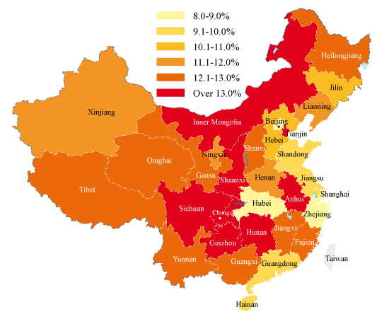 Map Of China Region.China S Provincial Gdp Figures In 2011 China Briefing News