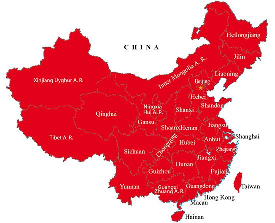 China green map