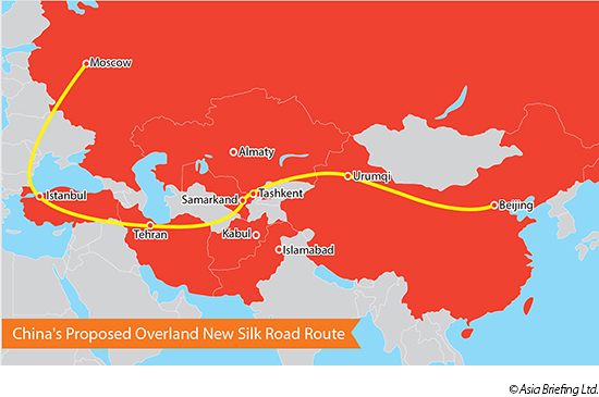 Chinas Proposed New Silk Road Free Trade Area China Briefing News - Us new silk road map