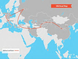 where is the silk road