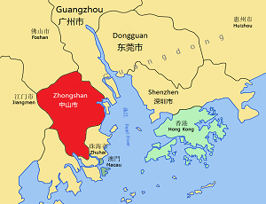 Zhongshan city map