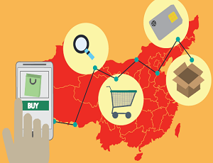 China e-commerce illustration