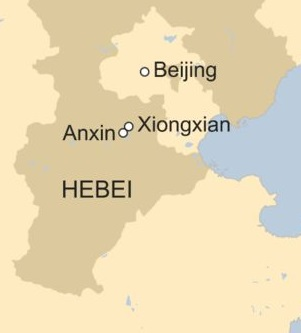 Xiongan Map China