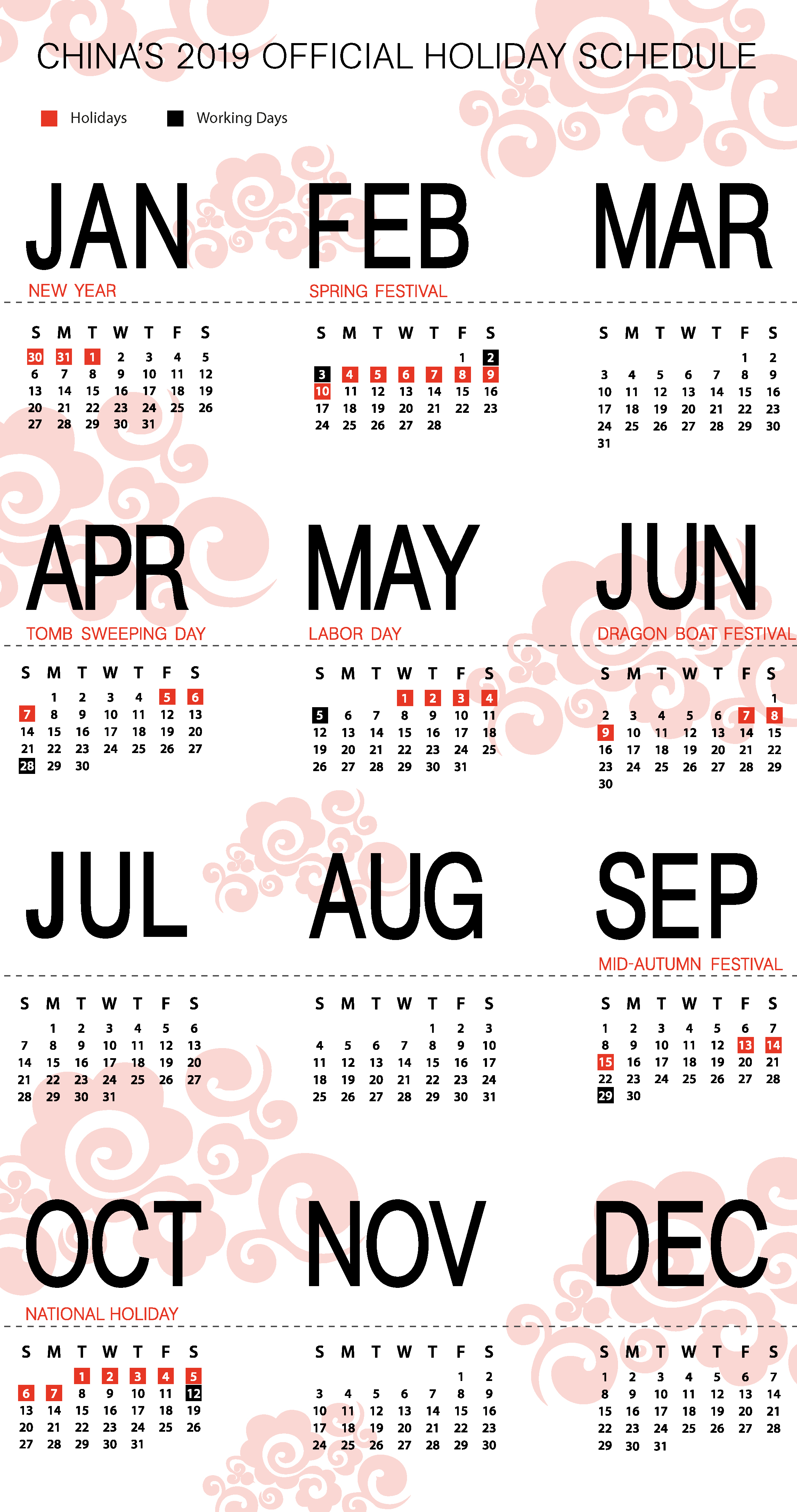 China's 2019 Holiday Schedule: Changes to Labor Day Holiday