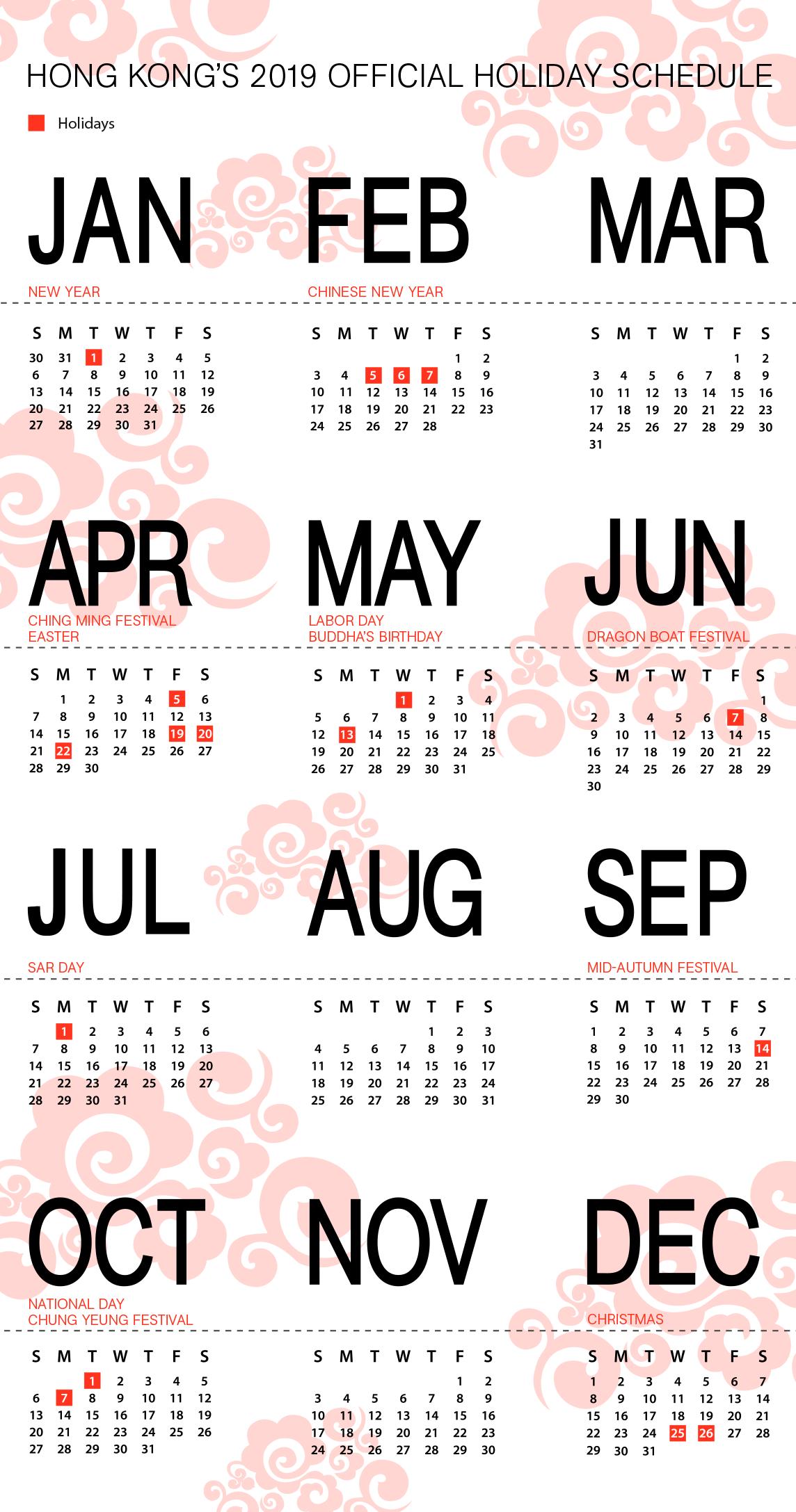 Christmas Holidays 2019 Calendar.Hong Kong S 2019 Holiday Schedule China Briefing News
