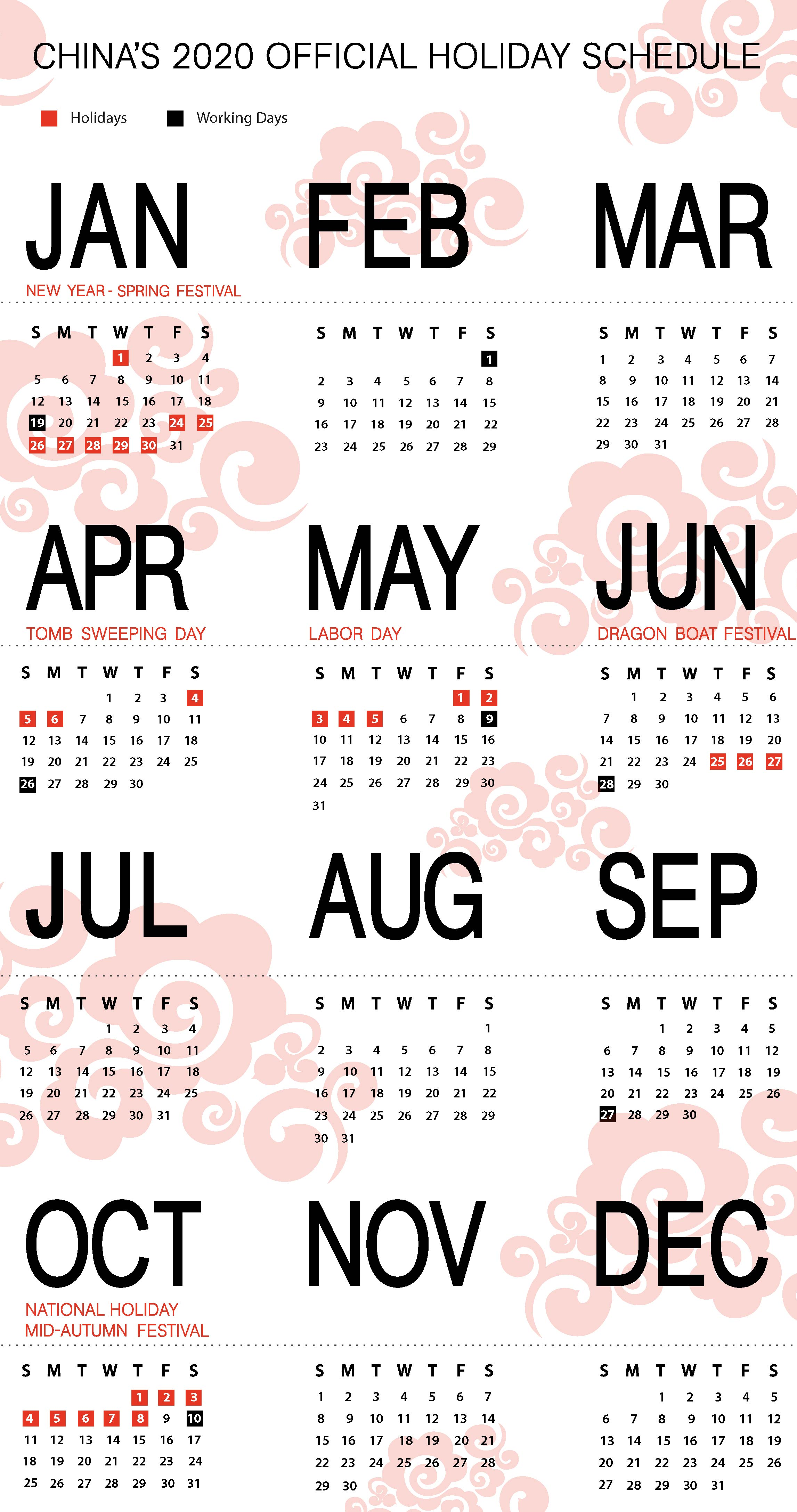 4 Days On 3 Days Off Work Schedule china's 2020 holiday schedule released - china briefing news
