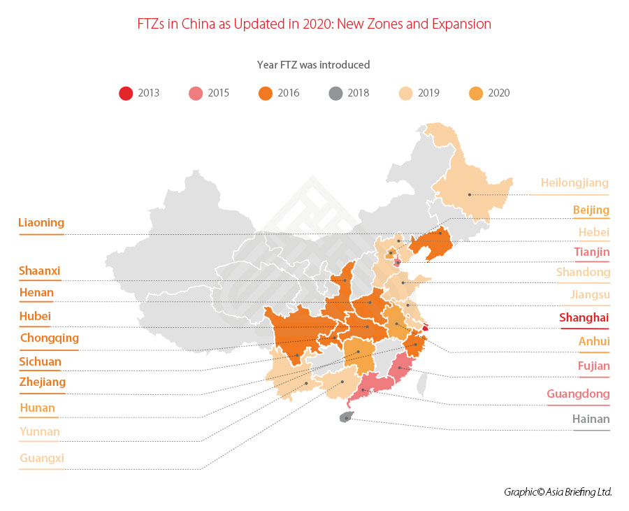 Free Trade Zones in China-Updated 2020